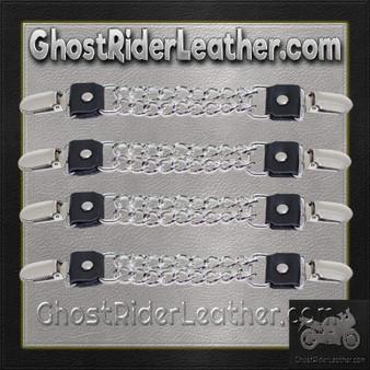 Set of Four Plain Clip On Vest Extenders with Chrome Chain / SKU GRL-AC1072-DL