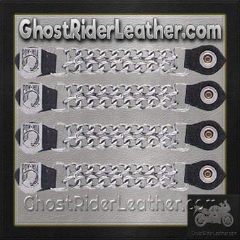 Set of Four POW MIA Vest Extenders with Chrome Chain / SKU GRL-AC1065-DL