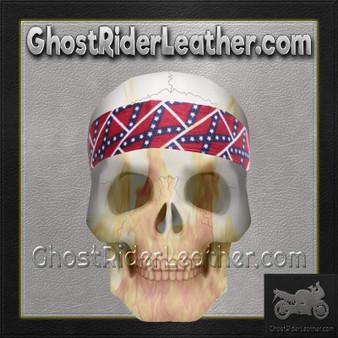 Set of Two Rebel Flag Biker Headbands / SKU GRL-AC9-REBEL-DL