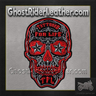 Skull With Tattooed For Life TFL Vest Patch - SKU GRL-PPA8000-HI