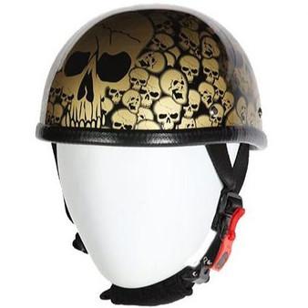 Smokey Gold Eagle Style Boneyard Novelty Motorcycle Helmet - SKU GRL-H6401-SMOKEY-DL