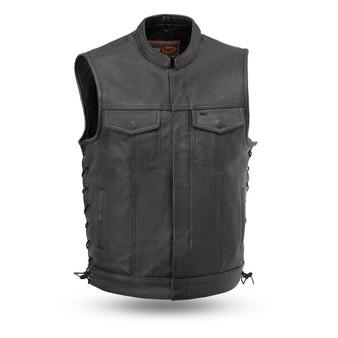 Sniper - The Best Men's Leather Motorcycle Vest - SKU FIM685CSL-FM