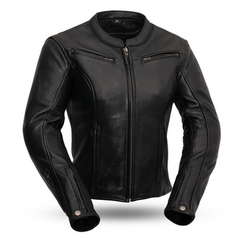 Speed Queen - Women's Leather Racer Jacket - SKU FIL158CLMZ-FM