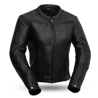 Speed Queen - Women's Best Leather Motorcycle Jacket - Racer Style - SKU FIL158CLMZ-FM