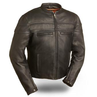 Stakes Racer - Men's Motorcycle Leather Jacket - SKU GRL-FIM226CCBZ-FM