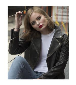 Stephanie - Women's Antique Brown Leather Riding Jacket - WBL1396