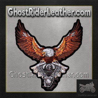 Storm Clouds Eagle with V-Twin Engine Vest Patch - Small - SKU GRL-PPA8224-HI
