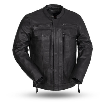 The Raider - Men's Motorcycle Leather Jacket - SKU GRL-FIM263CDMZ-FM