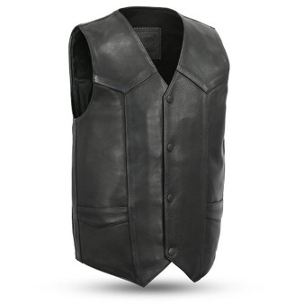 Tombstone - Men's Leather Western Vest