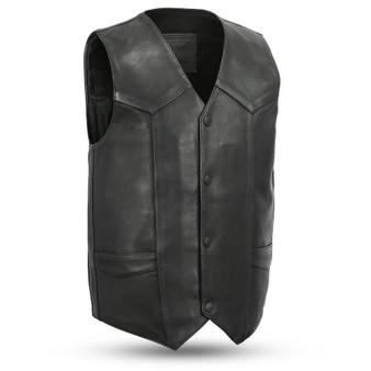 Tombstone - Men's Leather Western Vest - SKU FIM658CPM-FM