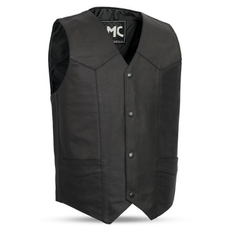 Top Shot Men's Leather Vest - Up To Size 8XL - SKU FMM601BM-FM