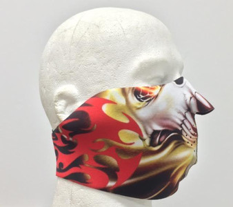 Tribal Neoprene Half Face Mask - Motorcycle Riding Mask - FMZ06-HI