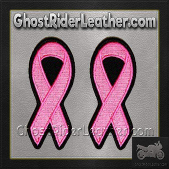 Two Pink Cancer Awareness Ribbon Patches - SKU GRL-PPG1002-X2-HI