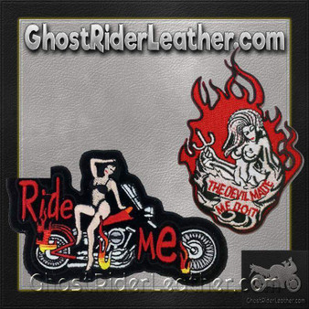 Two Ride Me and Devil Made Me Do It Patches / SKU GRL-PAT-D560-D669-DL
