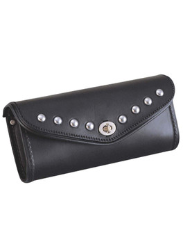 PVC 1 Pocket - Pouch - Motorcycle Windshield Bag With Studs - SKU 2801-00-UN