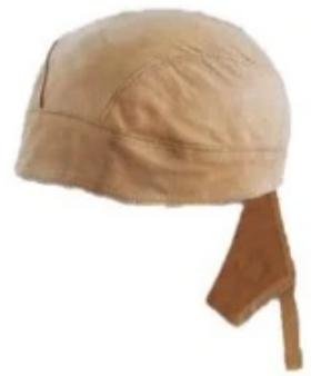 UNIK Cream Leather Headwraps - SKU GRL-1335-10-UN
