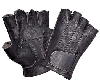 UNIK Durango Gray Fingerless Gloves With Gel Palm - SKU 8135-AGR-UN
