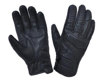 UNIK Full Finger Black Reinforced Leather Gloves - SKU 8161-00-UN