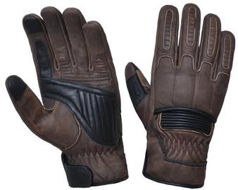 UNIK Full Finger Brown Reinforced Leather Gloves - SKU 8169-BR-UN