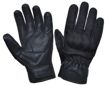 Full Finger Denim and Leather Reinforced Gloves - SKU 8171-00-UN