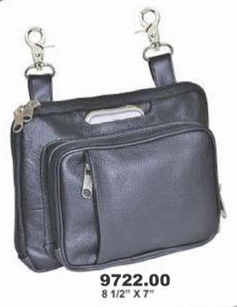 Women's Concealed Carry Leather Clip On Bag - Belt Bags - SKU 9722-00-UN
