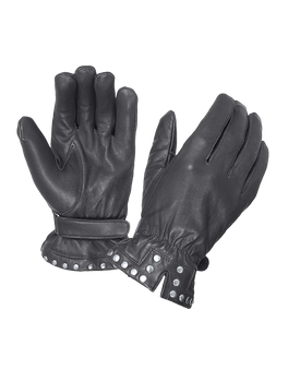 Women's Leather Motorcycle Gloves With Studs Design - SKU 8275-00-UN
