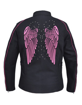 UNIK Ladies Nylon Textile Jacket With Hot Pink Wings - 3692-24-UN
