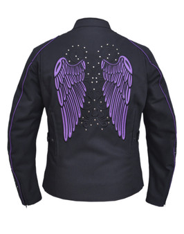 UNIK Ladies Nylon Textile Jacket With Purple Wings - 3692-17-UN