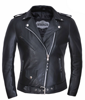 UNIK Ladies Premium Lambskin Leather Motorcycle Jacket - 6832-00-UN