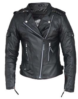 UNIK Ladies Premium Lambskin Leather Biker Jacket - 6845-00-UN