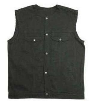 UNIK Men's Black Denim Vest 2