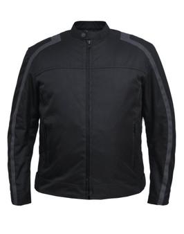 Men's Nylon Textile Jacket With Gray Stripe - SKU K-2146-18-UN
