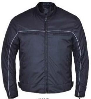 Men's Nylon Textile Jacket With Reflective Piping - SKU K-2147-00-UN
