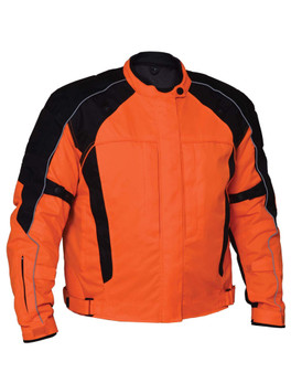 UNIK Men's Nylon Textile Jacket - SKU GRL-3526-16-ORANGE-UN