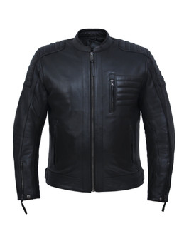 UNIK Men's Premium Leather Motorcycle Jacket