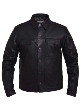 UNIK Men's Premium Lightweight Leather Shirt