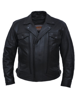 UNIK Men's Ultra Leather Motorcycle Jacket