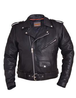 UNIK Men's Ultra Leather Motorcycle Jacket 3