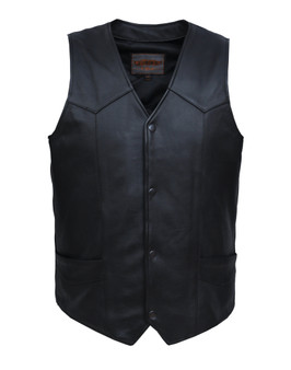UNIK Men's Ultra Leather Motorcycle Vest 3