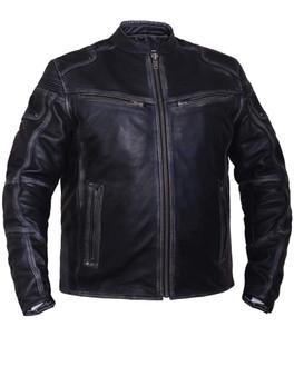 UNIK Men's Ultra Leather Reflective Motorcycle Jacket - SKU GRL-6633-RF-UN