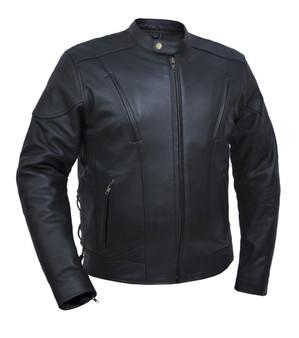 UNIK Men's Ultra Leather Vented Euro Jacket