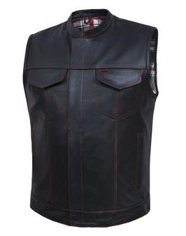 UNIK Men's Vest with Black / Red Flannel Liner