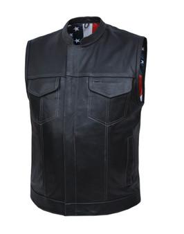 UNIK Men's Vest with USA Flag Liner