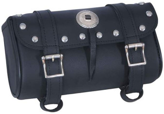 UNIK PVC Tool Bag With Studs and Concho - Motorcycle Storage - SKU 2864-00-UN