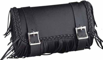 UNIK PVC Tool Bag With Fringe and Braid - Motorcycle Gear Bag - SKU 1502-00-UN