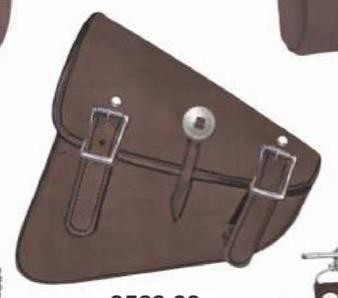 Leather Swing Arm Bag - Left Side - Hard Leather - Biker Gear Bags - SKU 9569-00-UN