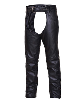 UNIK TALL Premium Leather Motorcycle Chaps - SKU GRL-6120-TL-UN