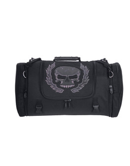 UNIK Textile Travel Bag With Reflective Skull - SKU 2474-00-UN