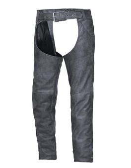 UNIK Tombstone Gray Leather Chaps - SKU GRL-720-GN-UN