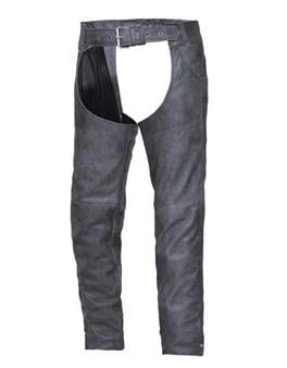 UNIK Tombstone Gray Leather Chaps - SKU GRL-720-GN-UN